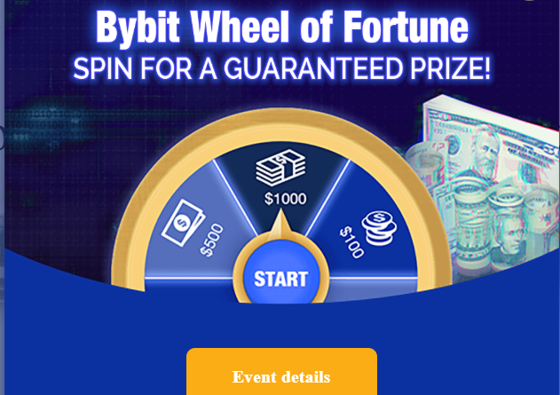 Bybit the Getto version of Bitmex with a Spinning Bonus Wheel and 100x
