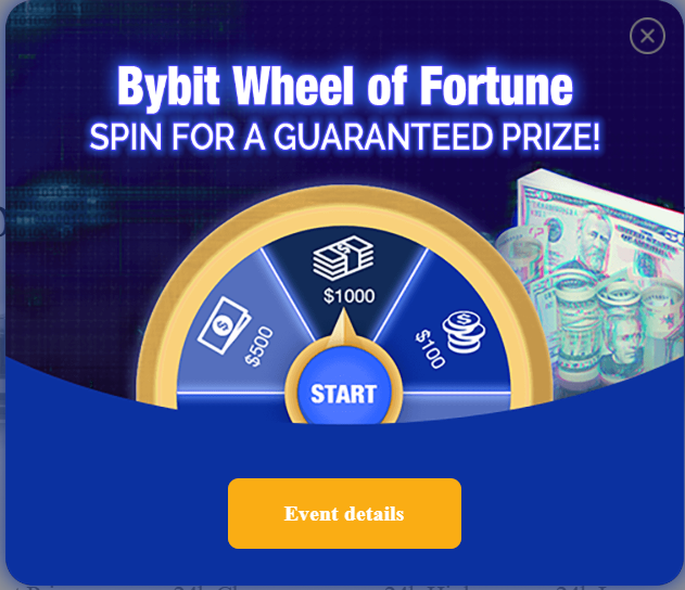 Bybit the Getto version of Bitmex with a Spinning Bonus